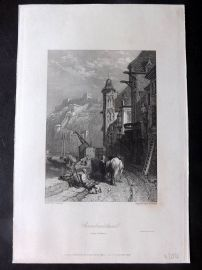 Brandard after Stanfield 1833 Print. Ehrenbreitstein from Coblence. Germany